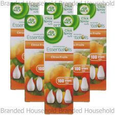 6 x AIR WICK AIRWICK CLICK SPRAY REFILL FRESHENER CITRUS FRUITS 15ML HOME OFFICE