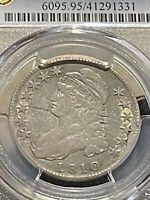 1810 50C PCGS Gold Shield Graded VF Detail Lettered Edge Capped Bust Half Dollar