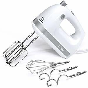 Liraip Electric Hand Mixer 5 Speed 400W Turbo with 5 Stainless Steel Accessor...