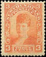 1897-1901 Canada Mint NH Newfoundland 3c F+ Scott #83  Stamp