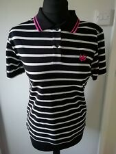 ALEXANDER MCQUEEN MCQ SWALLOW POLO SHIRT TOP RRP £180 SIZE S UK 10