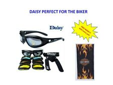 DAISY C5  Sunglasses/Googles Motorcycle with Free Mask Flame CM24