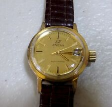 Vintage Enicar Ladies Watch serviced good working order new leather strap