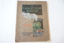 More details for original metcalfes exhaust steam injector class h technical loco catalogue