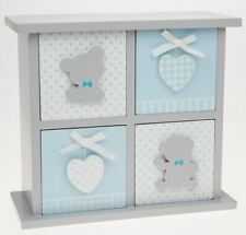 Tiny Ted 4 Drawer Chest Blue & Grey Small Square Unit