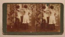 Antique Risque Stereoview, Ladies in Lingerie & Silk Stockings