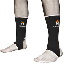 ADULT BLACK MMA ANKLE SUPPORTS - MEISTER Muay Thai Compression Kick Boxing Wraps