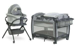 Graco Baby Pack 'n Play Day2Dream Portable Bassinet Deluxe Playard w/ Stand Beau