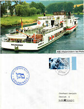 GERMANY PLEASURE CRUISER MS HOLZMINEN A SHIPS CACHED COVER & A MAGAZINE PICTURE