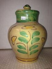 VASO  - CONTENITORE IN CERAMICA DI BURGIO DIPINTO A MANO old vase BG13