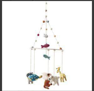 Pehr: Designer Newborn Infant Baby Nursery Pom Pom Crib Mobile Noah's Ark Animal