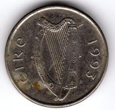 1993 10p ten pence Queen Elizabeth II Eire Irish Southern Republic Of Ireland