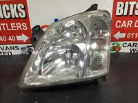VAUXHALL MERIVA HEADLIGHT/HEADLAMP (PASSENGER SIDE) MPV 2003-2010