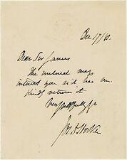 1881 | Joseph Dalton Hooker | H/Note écrite | Kew | Explorateur botaniste | Darwin