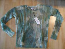 Not shy Impressionen très légère pull en laine camouflage kaki taille xs neuf