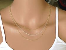 Triple layered gold and silver necklace ,gold filled necklace ,3 layers necklace