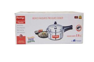 Prestige Popular Aluminium Pressure Cooker, 2 Litres.