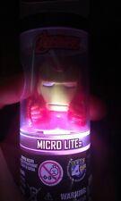 Marvel Comics IRON MAN Figure Character Micro Lite Flash Lite Toy NIB