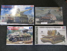 Four Tank Models, Italeri, Tamiya, Dragon, and Academy Complete Sets
