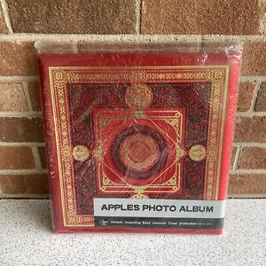 "NEW Old Stock VTG Red Self Stick Photo Album Scarpbook Very Nice 13"" Square"