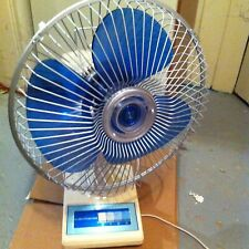 Electrohome vintage fan blue blade fan made in Canada 7512-1 model