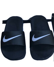Nike Kawa Boys Black Slides/Sandals Size Youth 12 Flip Flops