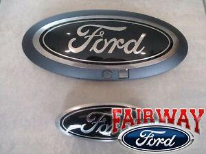 20 thru 22 Super Duty OEM Ford Smoke Chrome and Black Oval Kit w/ Camera Feature