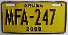 Aruba 2009 MOTORCYCLE License Plate NICE QUALITY # MFA-247