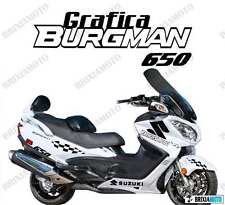 ADESIVI GRAFICA RACING SUZUKI BURGMAN 650 CARENA NERO ADESIVO STICKERS 2005 2014