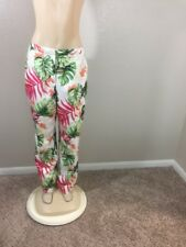 Talbots Women's Multi Color Floral Print Fully Lined Pure Silk Pants Size 14