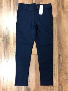 Gymboree Girl's School Uniform Ponte Knit Pant Navy Blue Regular Plus Sizes NWT
