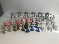 Lot of 60 Hasbro Star Wars Command Mini Figures - RARE Blue Han Solo, R2D2 Vadar