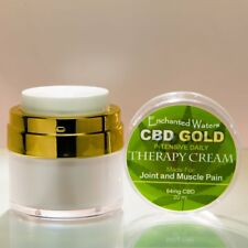 CBD GOLD Cream With Aloe Vera & Essential Oils-THC Free-Muscle Joint Pain Relief