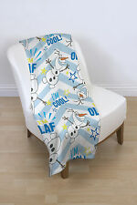 Disney Frozen Olaf Rotary Super Soft Fleece Blanket Character Throw
