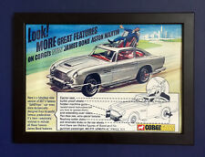 Corgi Toys 270 James Bond Aston Martin Vintage 1968 A4 Size Framed Poster Sign