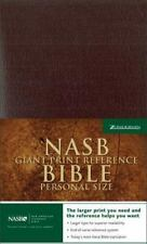 Giant Print Reference Bible-NASB-Personal Size (Leather / Fine Binding)