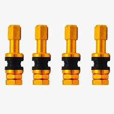 4x Alloy Bolt-in Tubeless Car Motorcycle Scooter Tyre Valve Stems in Golden