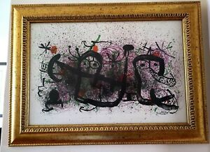 JOAN MIRO 1965 ORIGINAL SIGNED FRAMED LITHOGRAPH + DEEPLY DISCOUNTED NOW!!