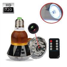Spy Camera LED Light Bulb Hidden Camcorder Remote Night Vision HD 720P Mini DVR