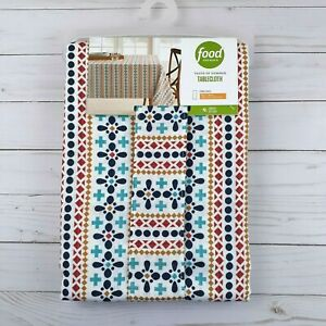 Food Network Fabric Tablecloth Geometric Stripe 60x84