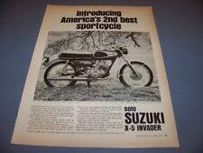 VINTAGE..1967 SUSUKI X-5 INVADER...1-PAGE ORIGINAL SALES AD..(554K)