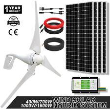 1600W 1KW 700W 400W Off Grid Wind & Solar Hybrid Generation Kit for Home Garden