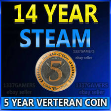 14 Year Old 6 Digit Steam Acc 5 Year Veteran Coin For CSGO (CS GO)