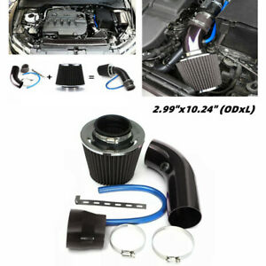 "2.99"" Universal Car Cold Air Intake Filter Set Induction Pipe Power Flow Hose"
