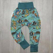 """handmade """"BAGGY PANT"""" Pumphose Baggypant Hose PAULI MAULWURF blau Gr. 92/98"""