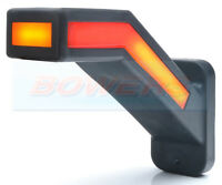 NEON LED L/H TRAILER STALK END OUTLINE MARKER LAMP LIGHT + DYNAMIC INDICATOR