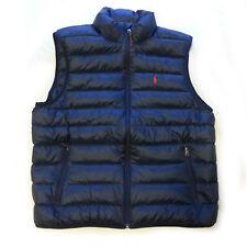 "POLO Ralph Lauren Men Size XL Puffer Down Vest Jacket Navy Blue NWT 24""x27"""