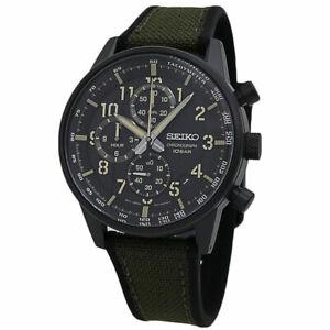 Seiko Essentials Chronograph Black Dial Men's watch SSB373