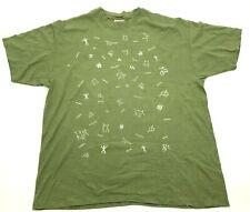 Vintage Hawaii Île Chemise Taille XL Double Face T-Shirt Hiéroglyphique 90's