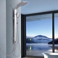 "44"" Aluminium Alloy Shower Column Panel Rainfall Shower Head w/Hand Shower New"